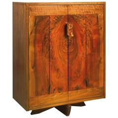George Nakashima Walnut Cabinet with Burl Pull, USA, 1991