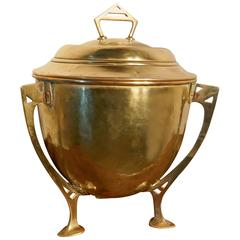 Arts and Crafts Brass Ice Bucket Champagne Wine Cooler