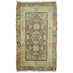 Vintage Khotan Throw Rug