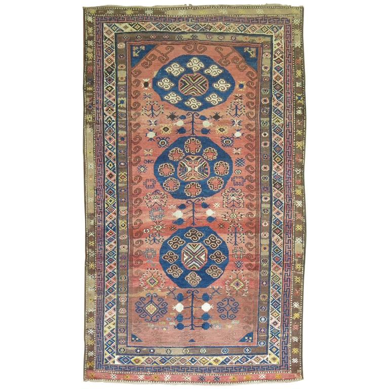 Vintage Turkish Kars Rug Influenced by 19th Century Khotan Rugs For Sale