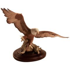 Lladro Porcelain Eagle with Original Stand