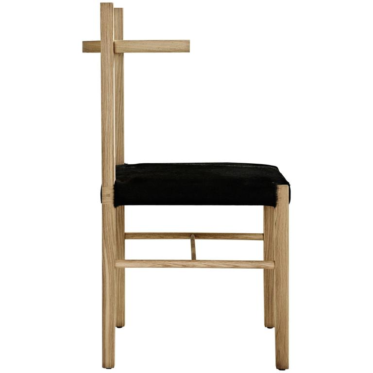 Limited-Edition Soren Chair in White Oak and Ebony Hair-On Hide