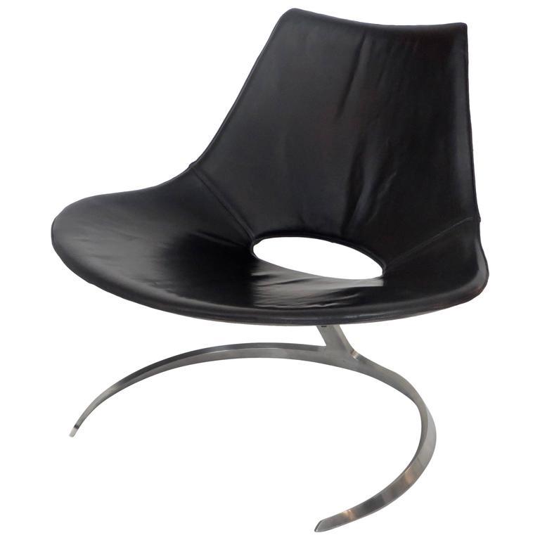 Preben Fabricius and Jorgen Kastholm Scimitar Chair