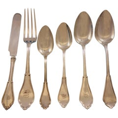 Gothic by Vanderslice Sterling Silver Flatware Set 43 Pieces, California