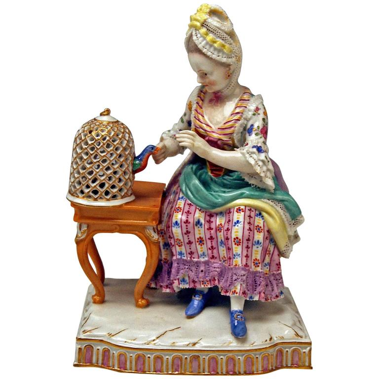 Meissen Five Senses the Feeling by Schoenheit Model E4, circa 1840-1850 For Sale