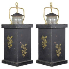 Pair of Tole Barge Lanterns