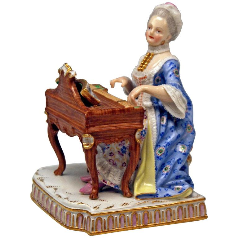 Meissen Five Senses the Hearing by Schoenheit Model E 1, circa 1830-1840