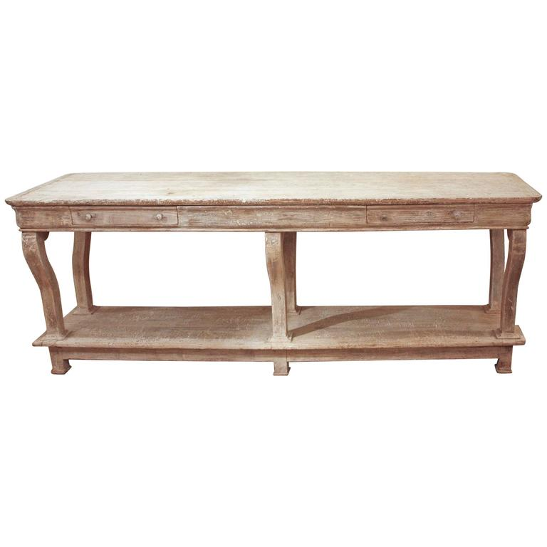 French Console Table painted country french console table / buffet at 1stdibs