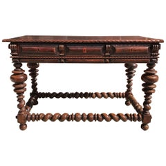 Portuguese Rosewood 18th Century  Library Center Table