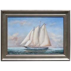 Two Masted Schooner Oil