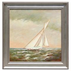 Sloop in Sunset Oil on Canvas