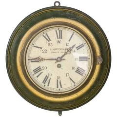 Vintage Industrial French Tole Wall Clock