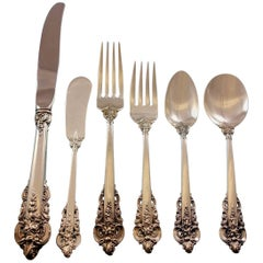 Grande Baroque by Wallace Sterling Silver Flatware Set 12 Dinner Size 78 Pieces