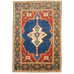 Jewel Toned Antique Persian Senneh Rug