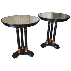 Pair of Neoclassical Tripod Side Table