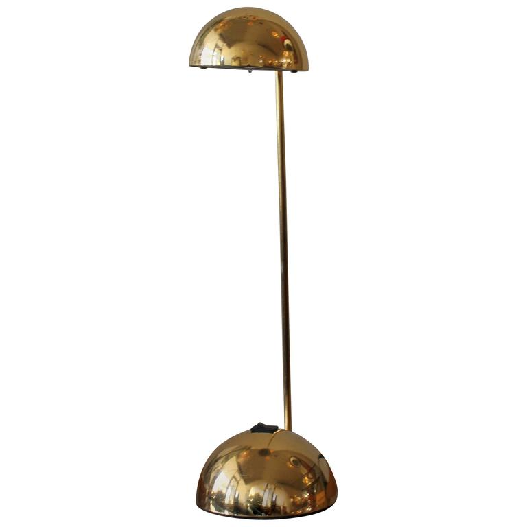 Beautiful Italian Brass Desk Lamp By Barbieri And Marianelli For Tronconi For Sale