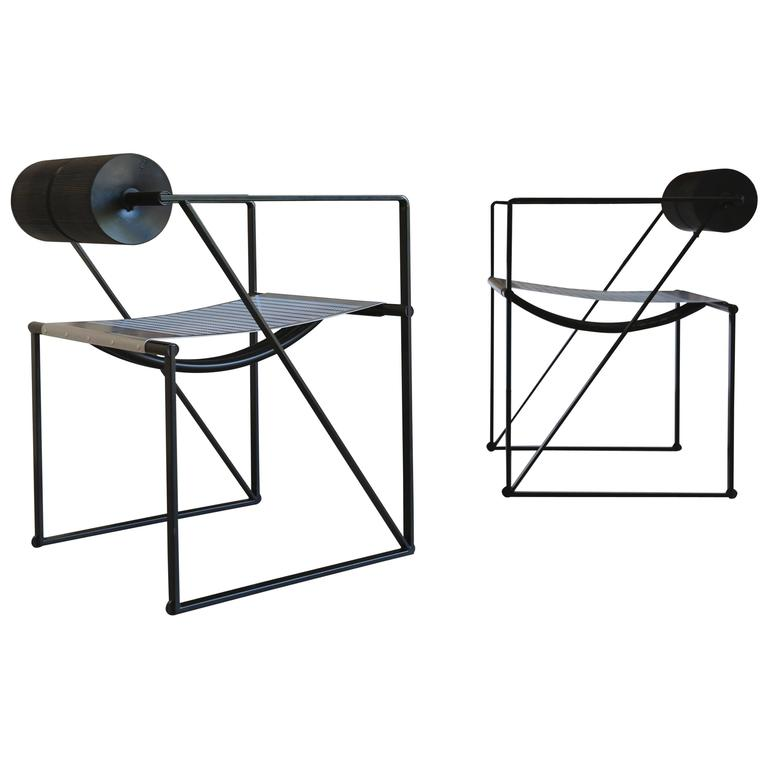 Pair of Seconda 602 Armchairs by Architect Mario Botta For Sale