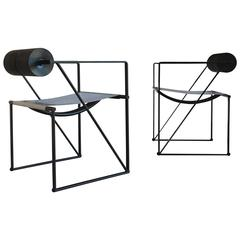 Pair of Seconda 602 Armchairs by Architect Mario Botta