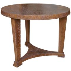 Art Deco Neoclassical Coffee or Side Table in Limed Oak by André Arbus