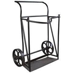 Vintage Industrial Iron Cart
