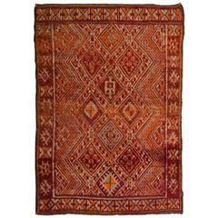 Mid-20th Century Moroccan Berber Rug