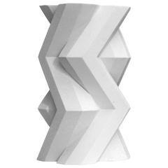 Lara Bohinc, Fortress Tower Vase, White Ceramic
