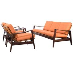 1960s Arne Wahl Iversen Seating Group for Komfort