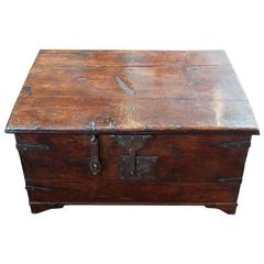 Antique Colonial Iron Bound Trunk