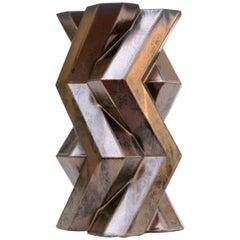 Fortress Tower Vase, Bronze Ceramic by Lara Bohinc