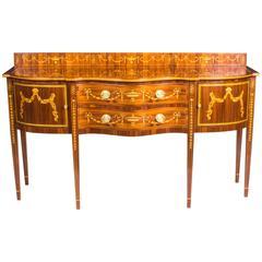 Elegant Sheraton Style Mahogany Marquetry Sideboard