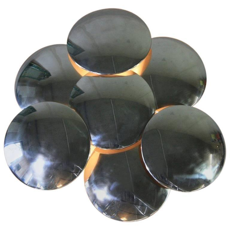 Seven Disks Reggiani Wall Sconce, Italy, 1970s