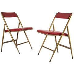 Pair of Folding Chairs by Gio Ponti for Cagliani e Marazza, 1950s