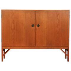 Two-Door Oak Cabinet Designed by Børge Mogensen Produced by C.M Madsen for F.D.B