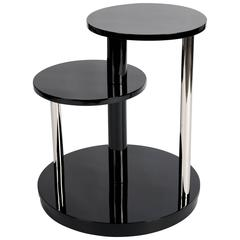 Black Lacquered French Art Deco Coffee Table or Side Table