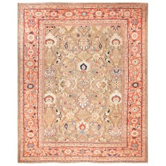 Large Antique Ziegler Sultanabad Persian Rug. Size: 13 ft 3 in x 16 ft 3 in