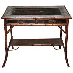 Superb 19th Century English Bamboo Writing Table