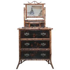 Superb 19th Century, English Bamboo Cottage Dresser