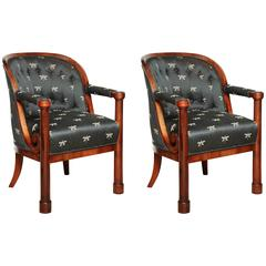 Pair Biedermeier Armchairs