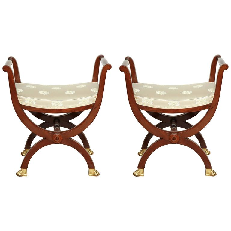 Pair of Directoire Benches For Sale