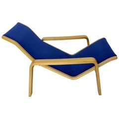 Blue Birch Vintage Chaise Longue by Ilmari Lappalainen, 1963, Finland