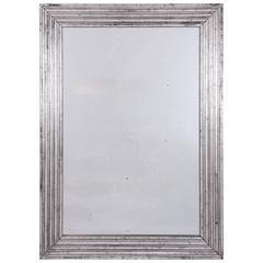 Silver Leaf Mirror, French, circa 1950