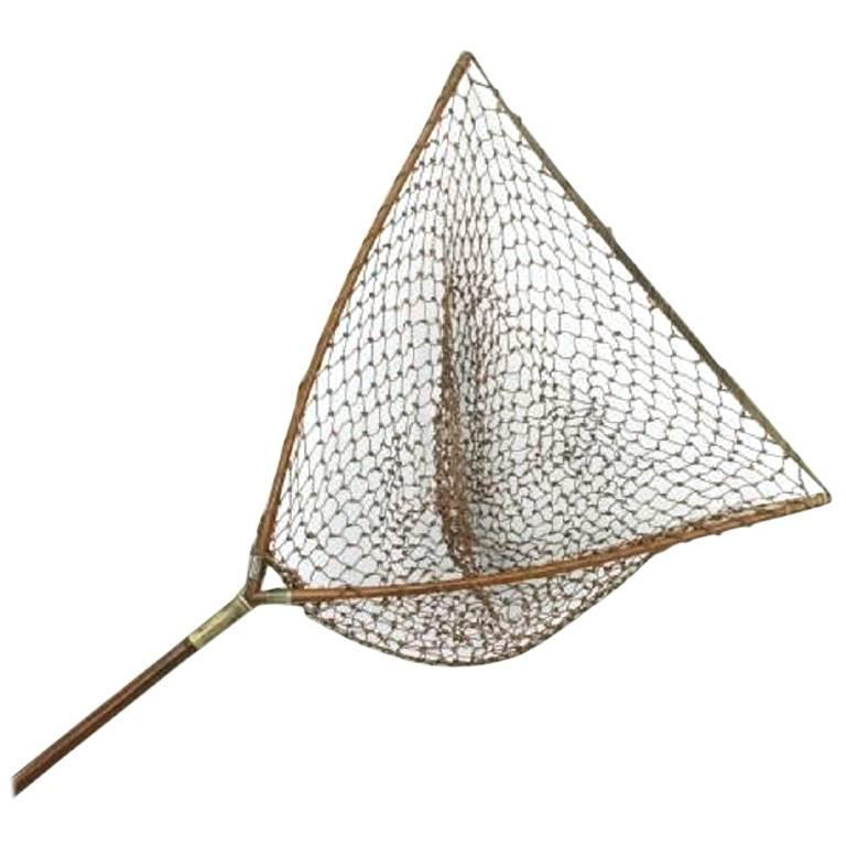Vintage hardy salmon landing net for sale at 1stdibs for Fishing nets for sale