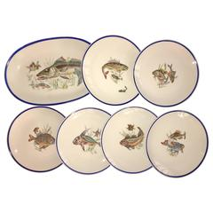 Fine Vintage Limoges Fish Plates