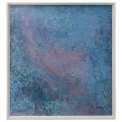 """Oil on Board by Margaret Lazzari, Titled """"Wave,"""" circa 1991"""