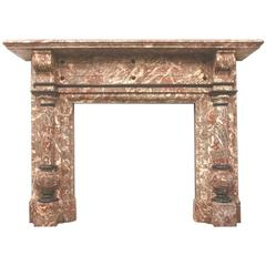 Antique Victorian Rouge Royal Marble Surround