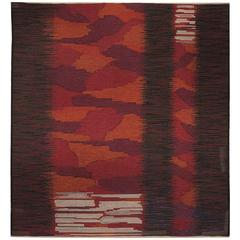 Mid-Century Scandinavian Rug by Alice Lund, Signed