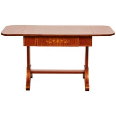 19th Century Danish Empire Mahogany Salon Table