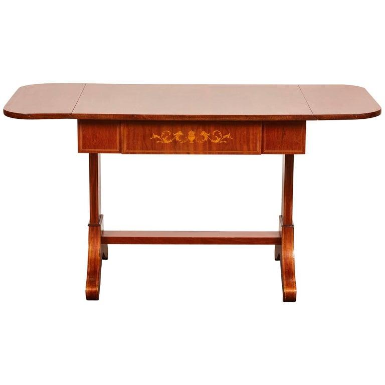 19th Century Danish Empire Mahogany Salon Table For Sale