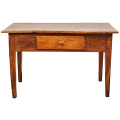 Late 18th Century British Oak Single Drawer Farm Table