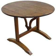 Antique French Cherry Tilt-Top Wine Table
